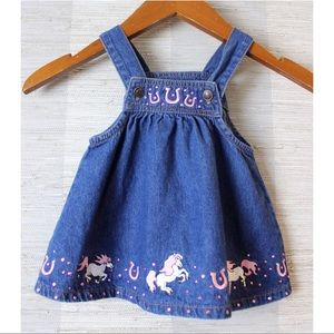 Baby Korral Authentic Western Denim Overall Dress